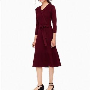 Kate Spade wool burgundy midi sweater dress!